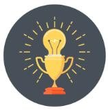 lightbulb-trophy icon