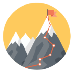 climb a mountain icon
